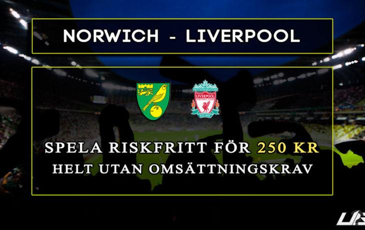 Betfair-Spelbörs-Norwich-Liverpool-250-kr
