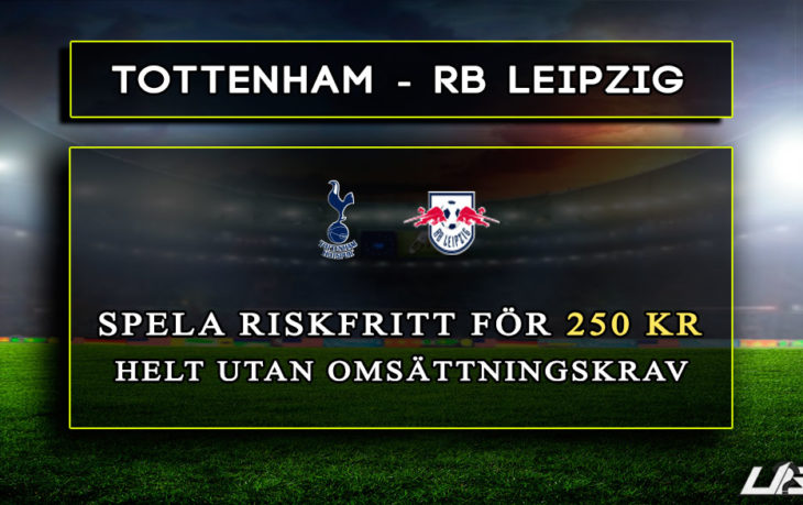 Betfair-Spelbörs-Tottenham-RBLeipzig-250-kr