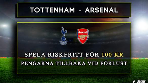 Betfair-Spelbörs-Tottenham-Arsenal-100-kr