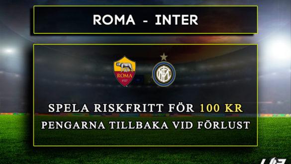 Betfair-Spelbörs-Roma-Inter-100kr