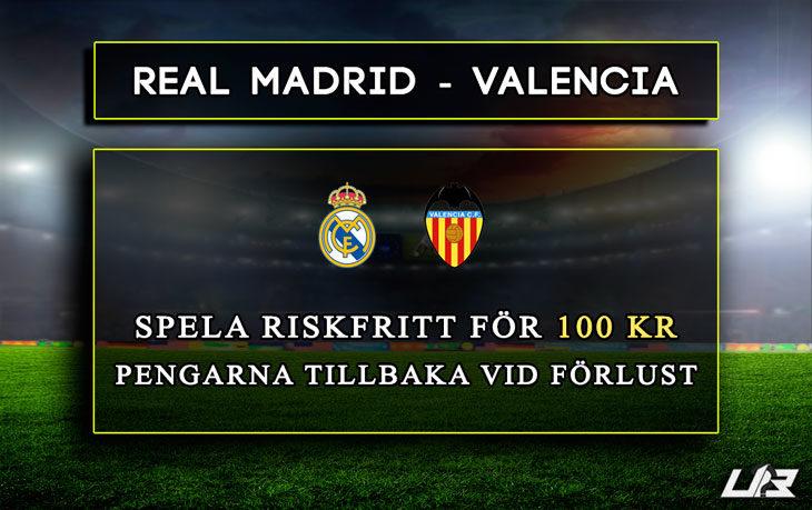 Betfair-Spelbörs-RealMadrid-Valencia-100kr